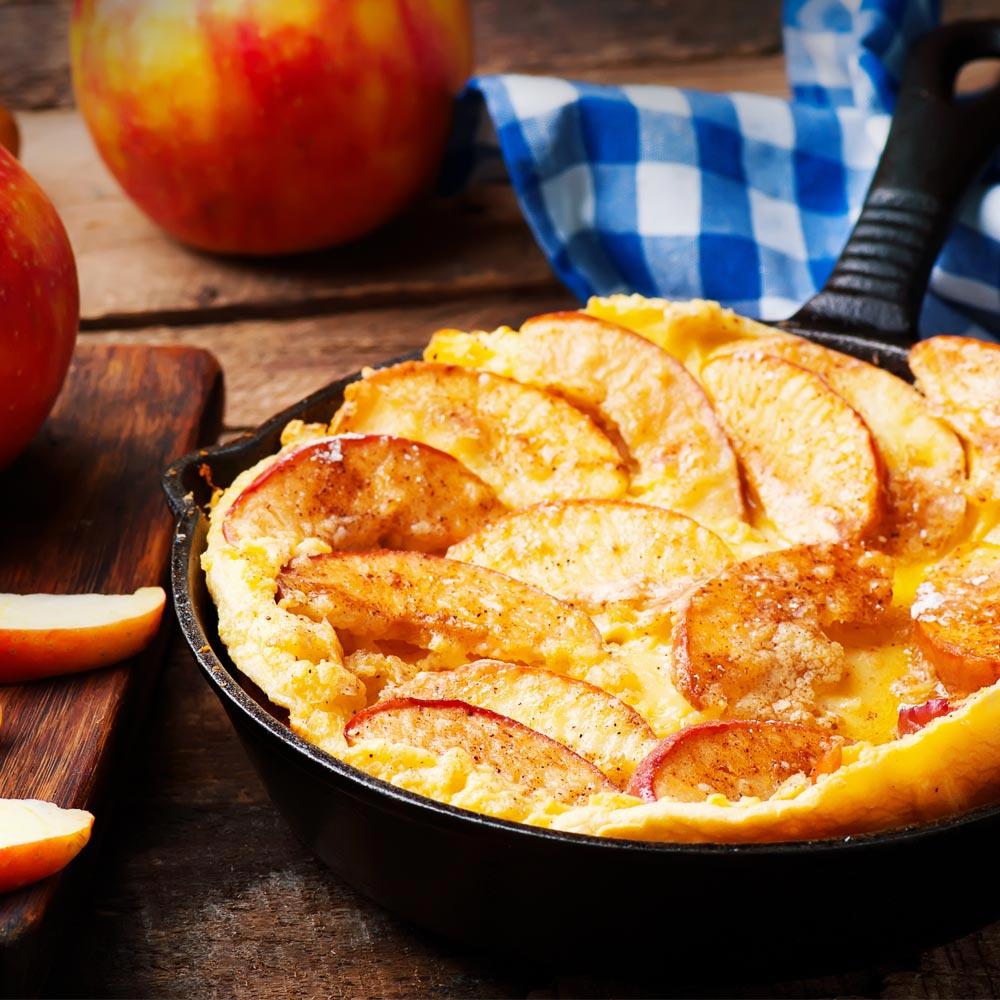 Panqueques de manzana-Cheddar