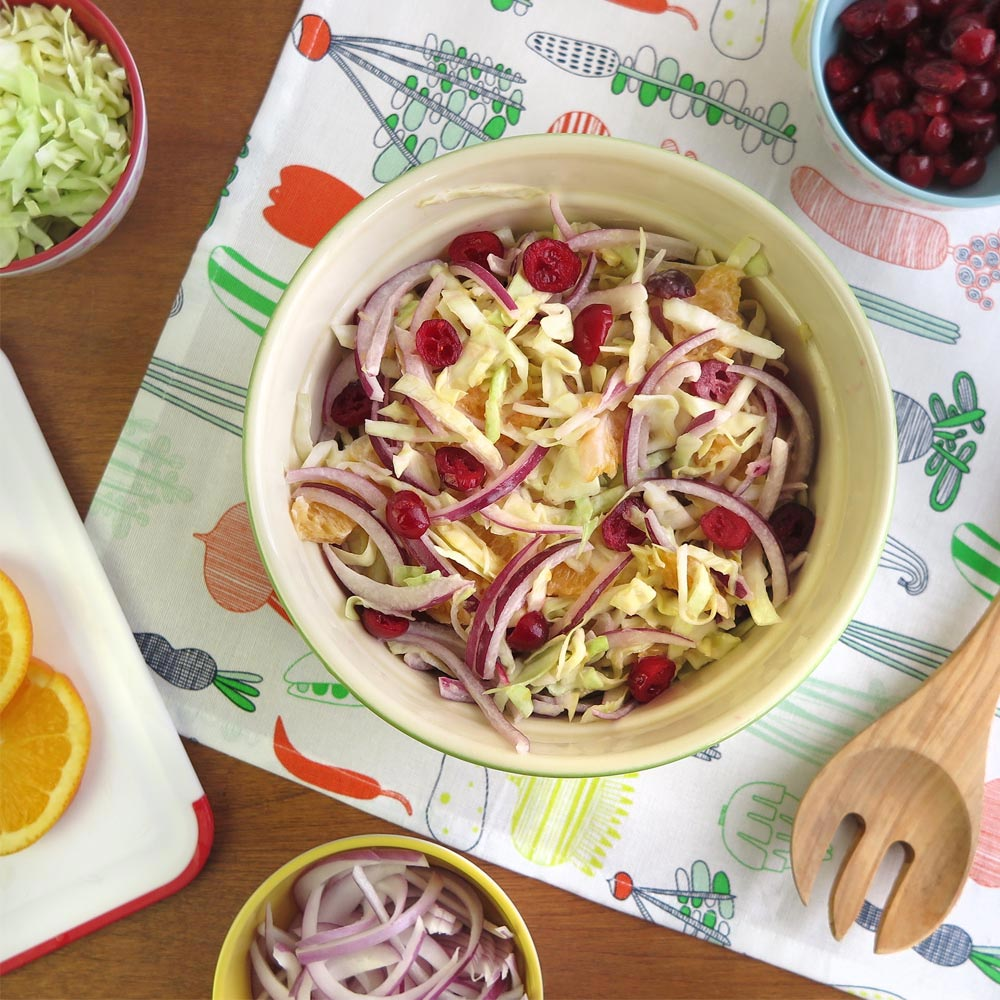 Cabbage and Cranberry Slaw