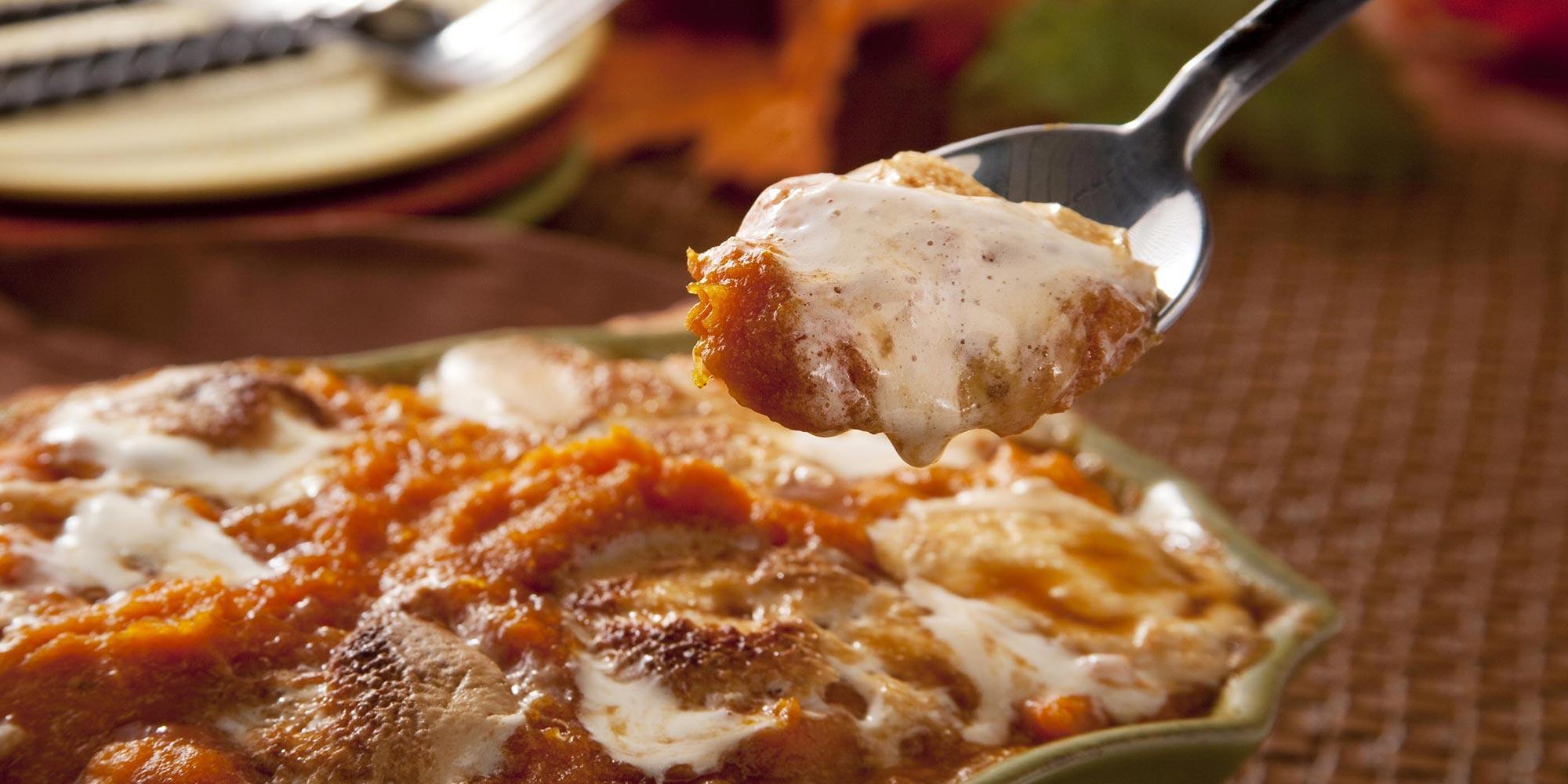 Cazuela de patata dulce confitada