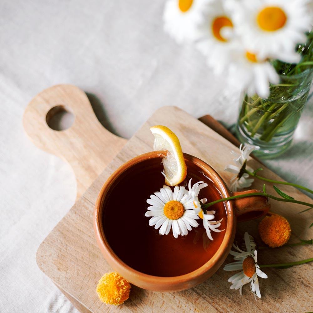 Té de manzanilla y Granada