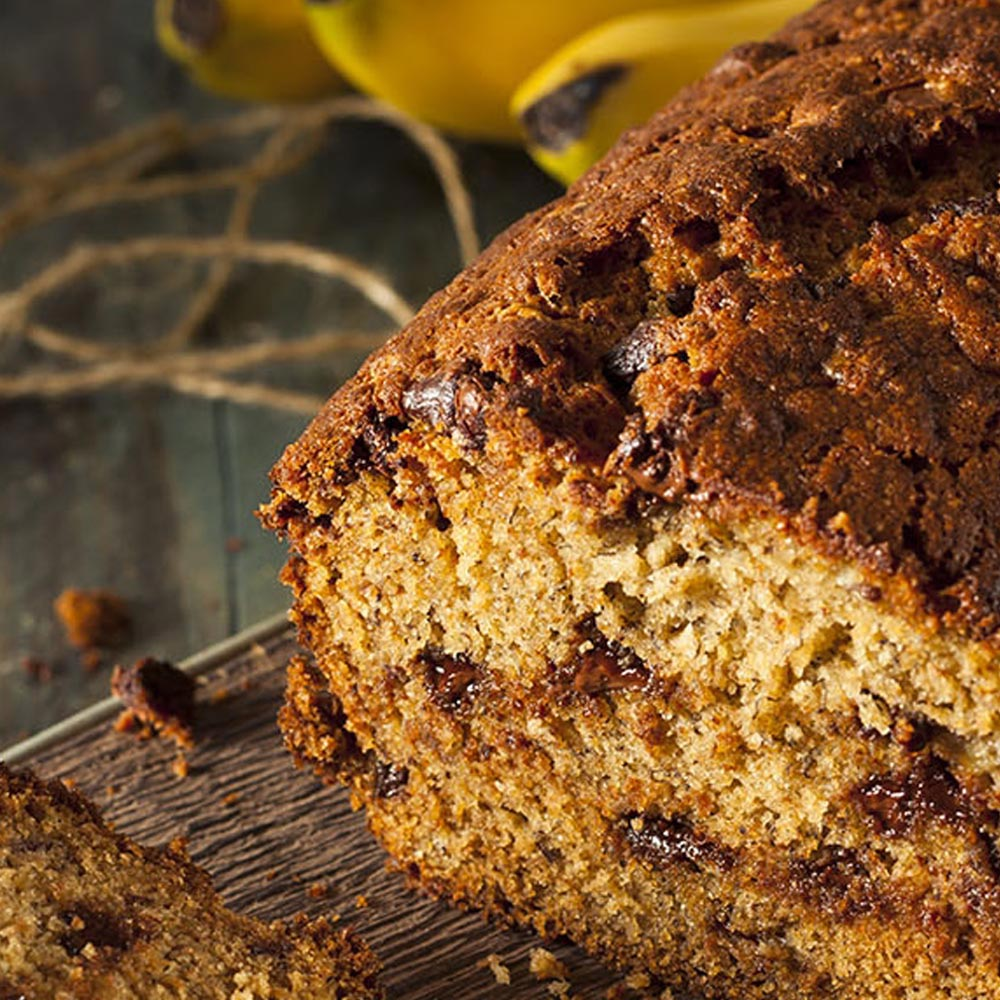 Chocolate Chip Walnut Banana Bread