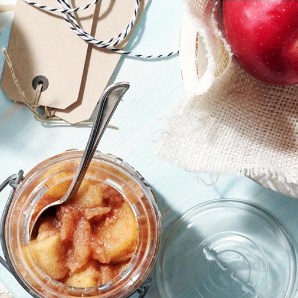 Puré de manzana con trozos