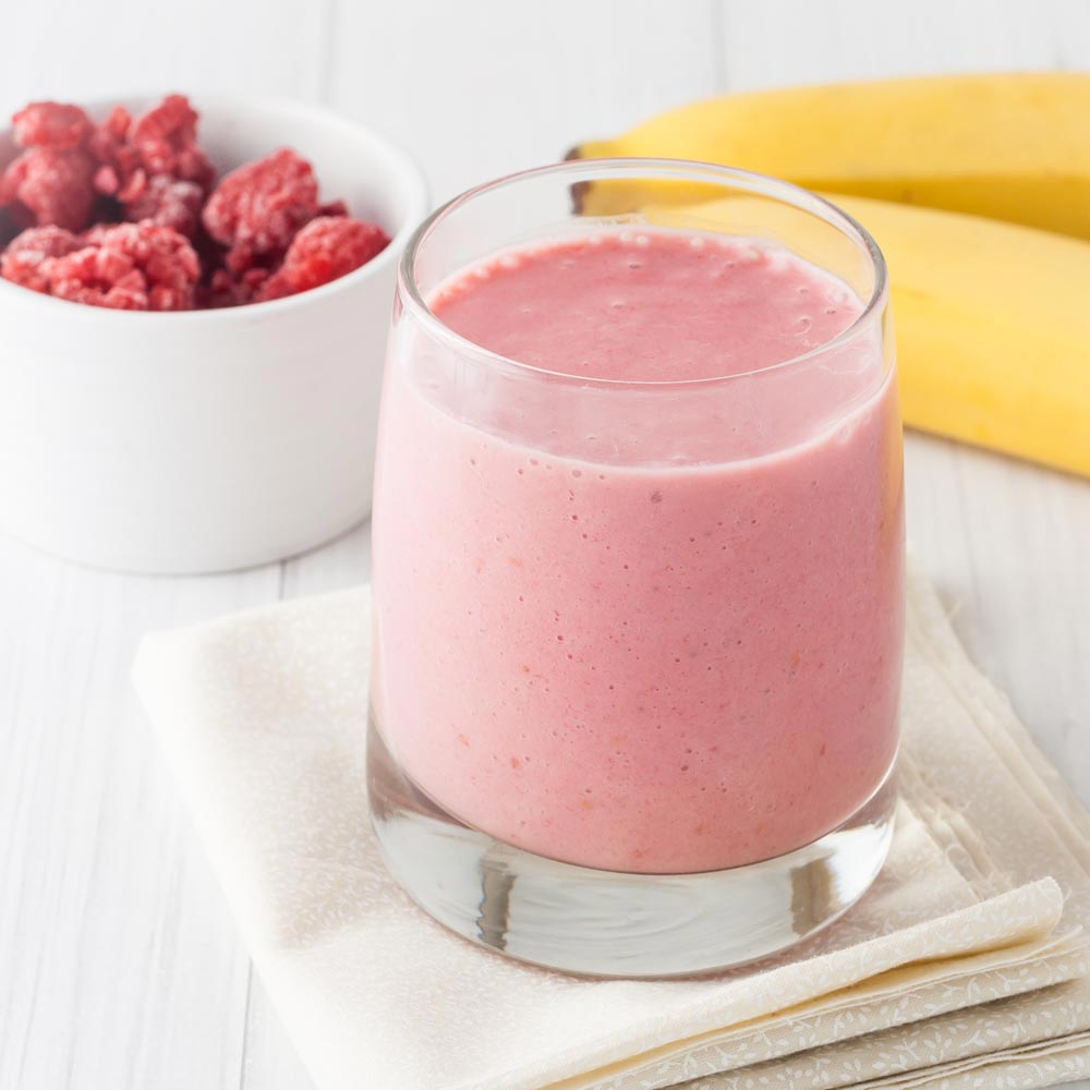 Classic Raspberry Banana Smoothie