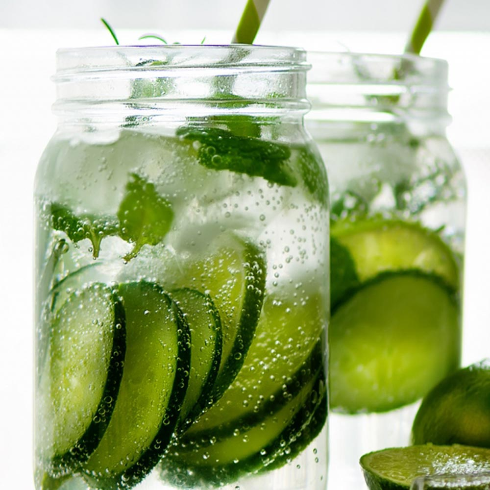 Cucumber Gin Fizz Cocktail