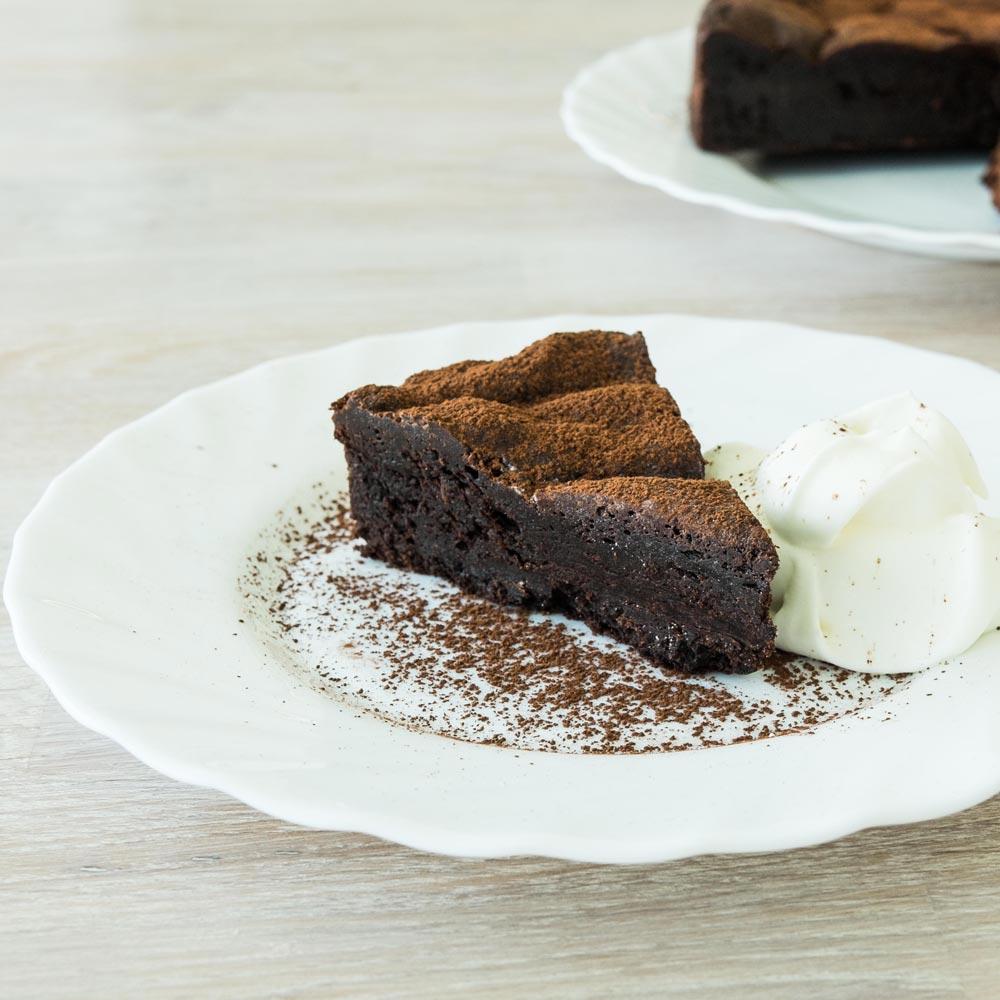 Torte de avellana con chocolate sin flan