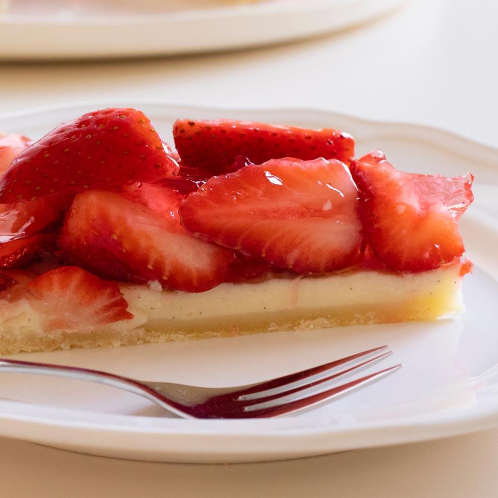 Tarta de fresas frescas
