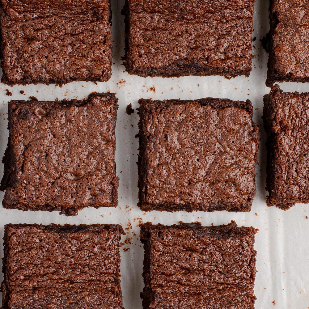 Brownies con fudge
