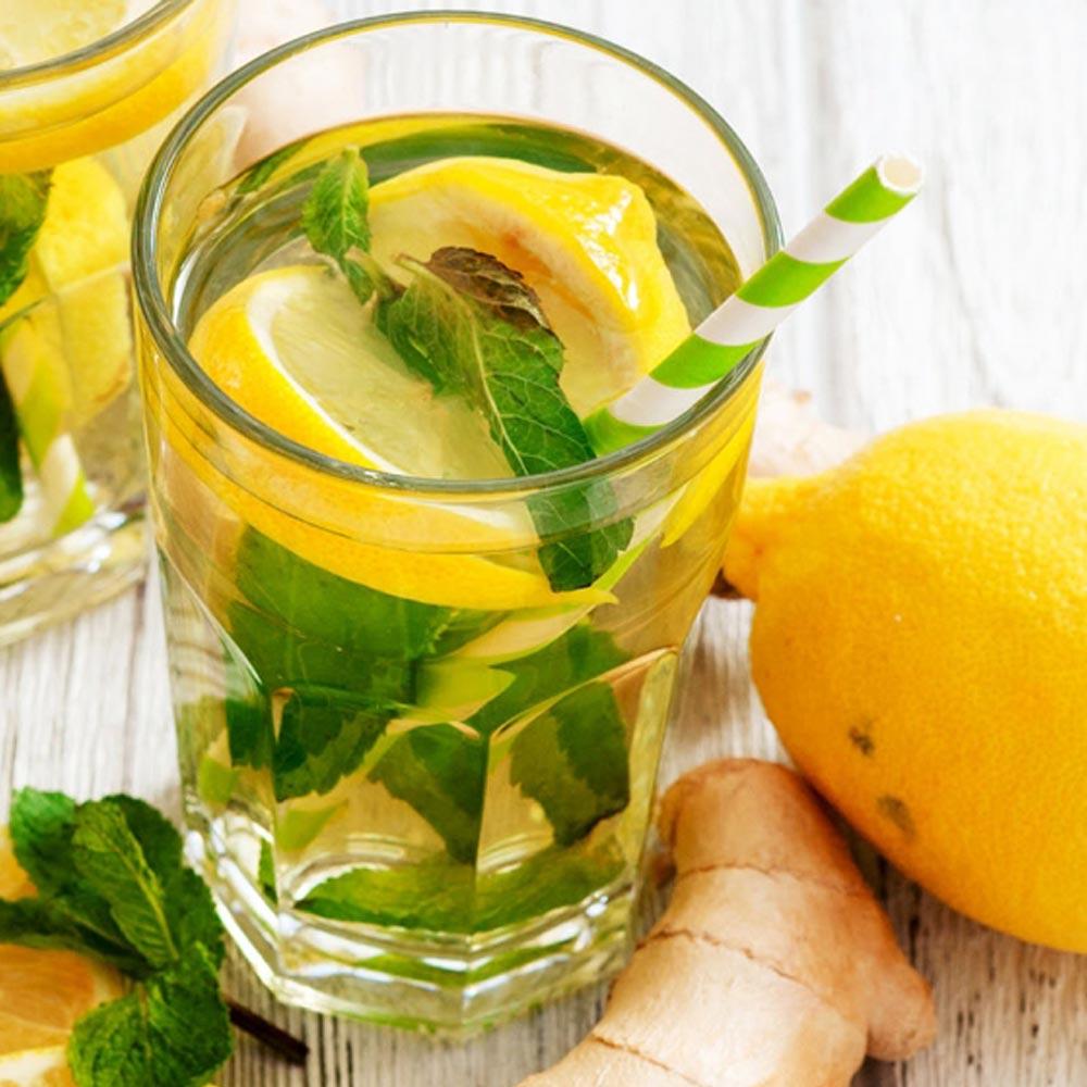 Té verde con jengibre y limón