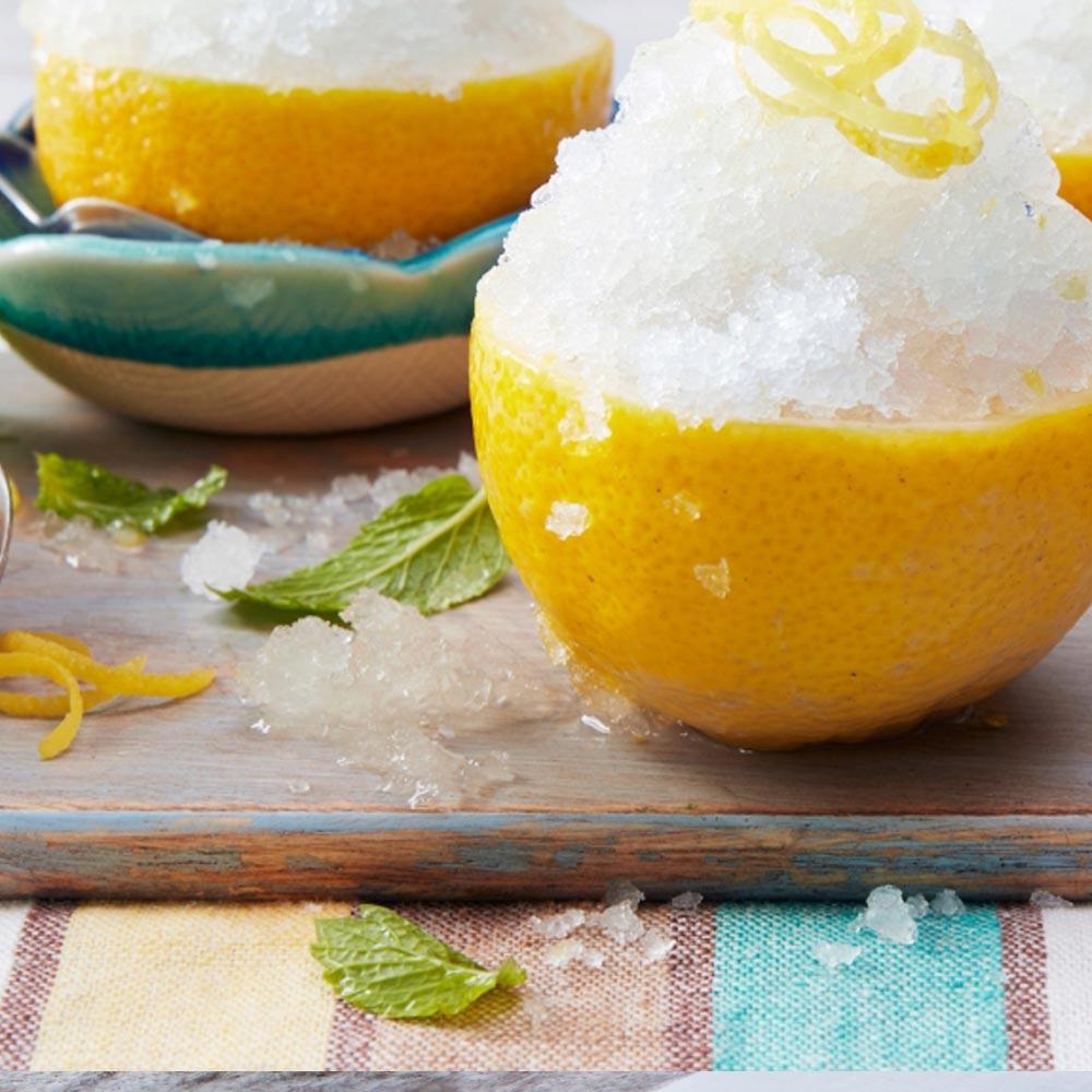 Sorbete helado de limón