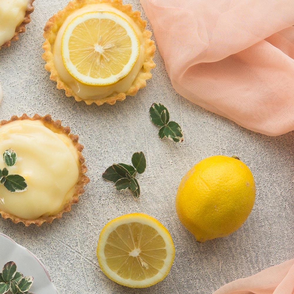 Tartaletas de limón y coco