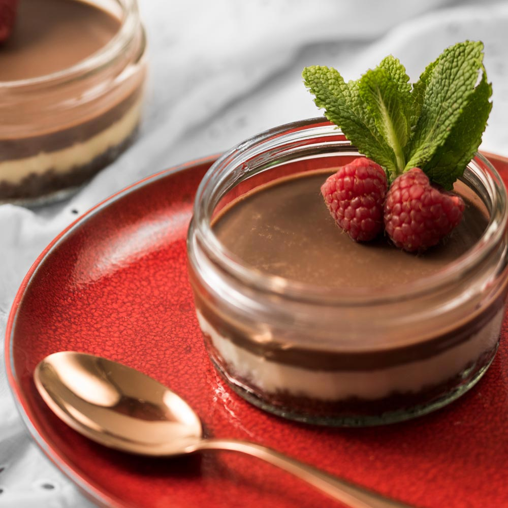 Mini Chocolate-Crusted Cheesecakes