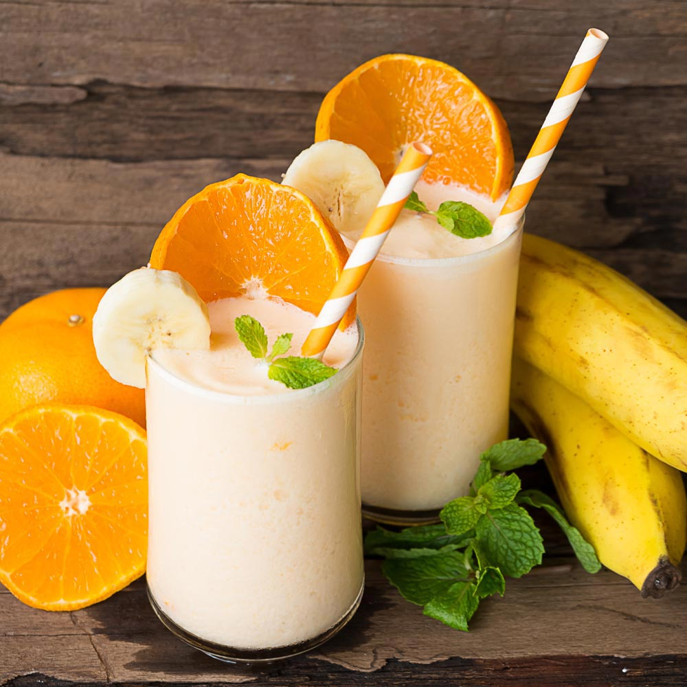 Smoothie de naranja y banana