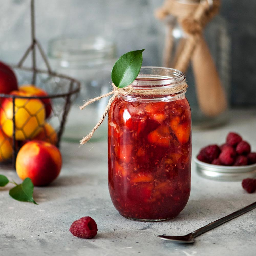 Raspberry-Peach Compote