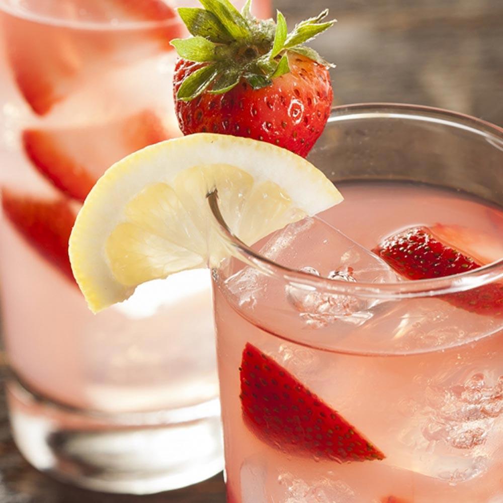 Limonada con fresas