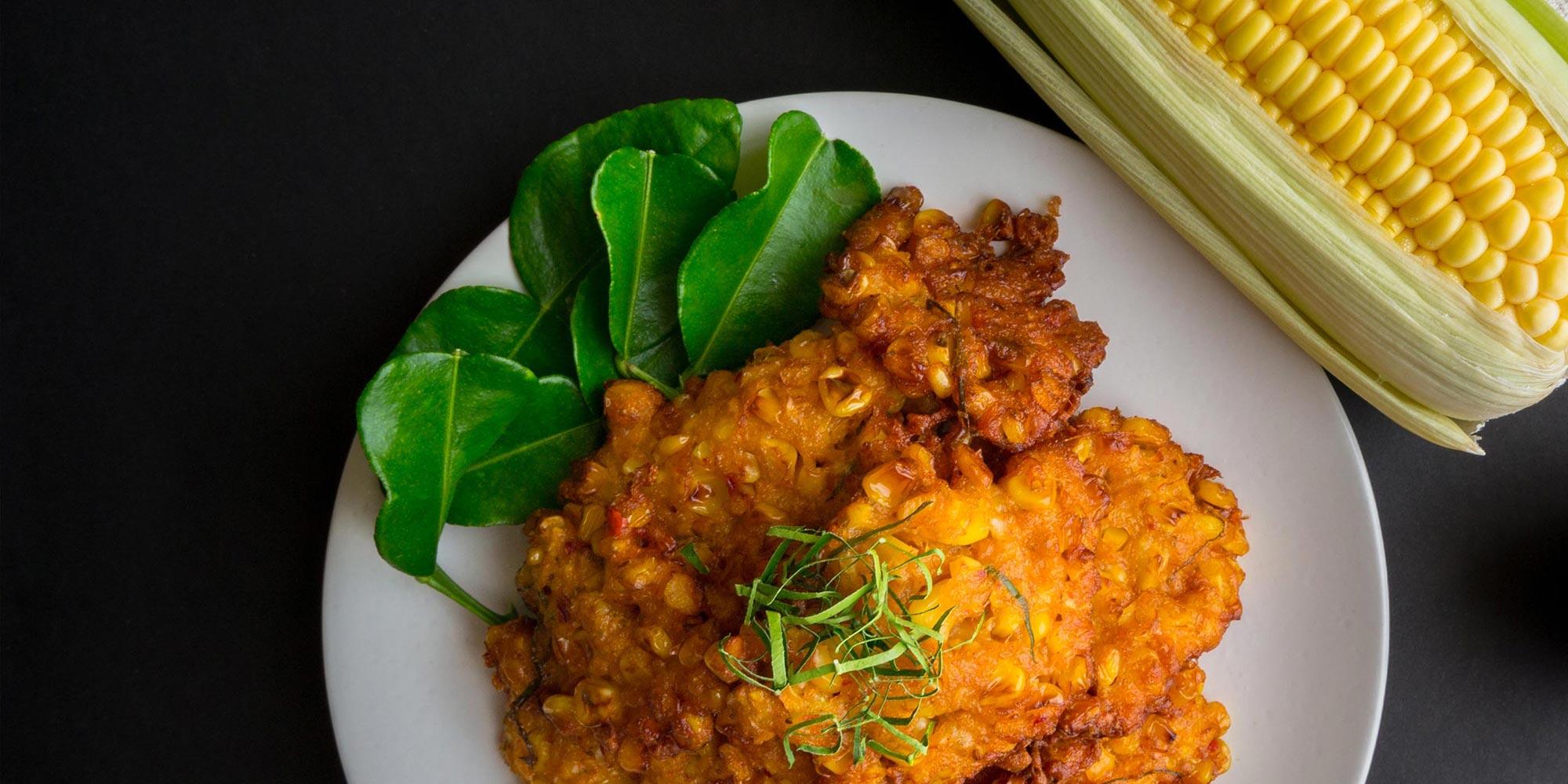 Buñuelos de maíz dulce y picante