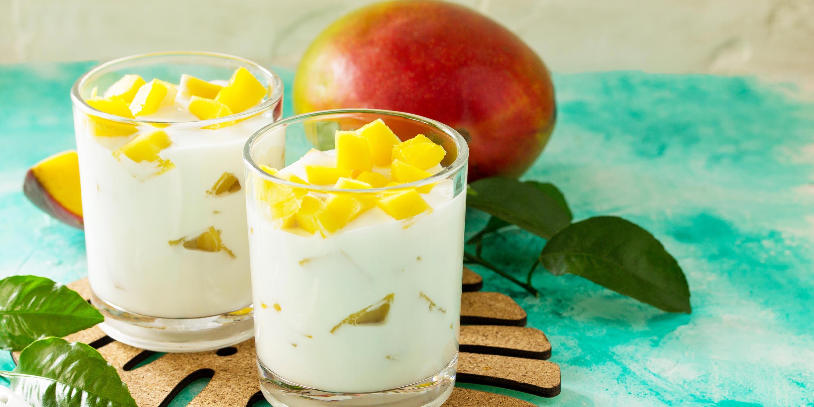 Parfait de yogur tropical