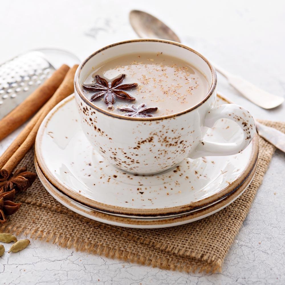 Chai con leche y vainilla