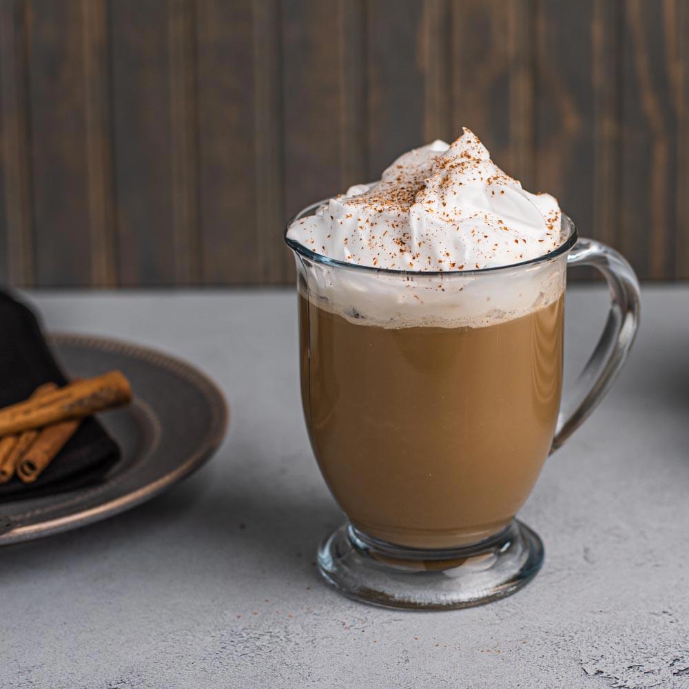 Café con crema dulce y vainilla
