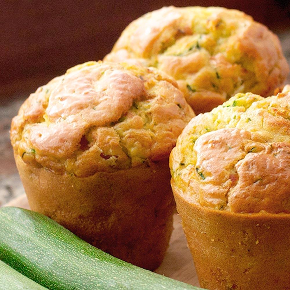Muffins de pan de zucchini