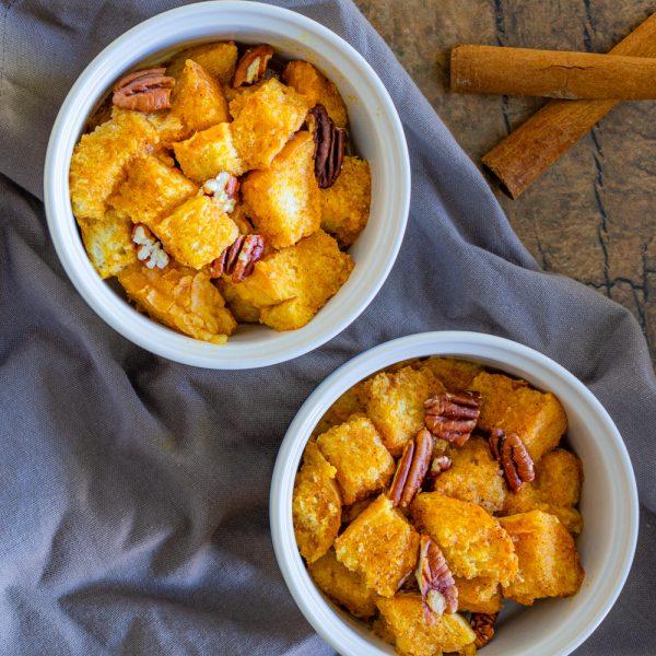 Individual Pumpkin Bread Puddings