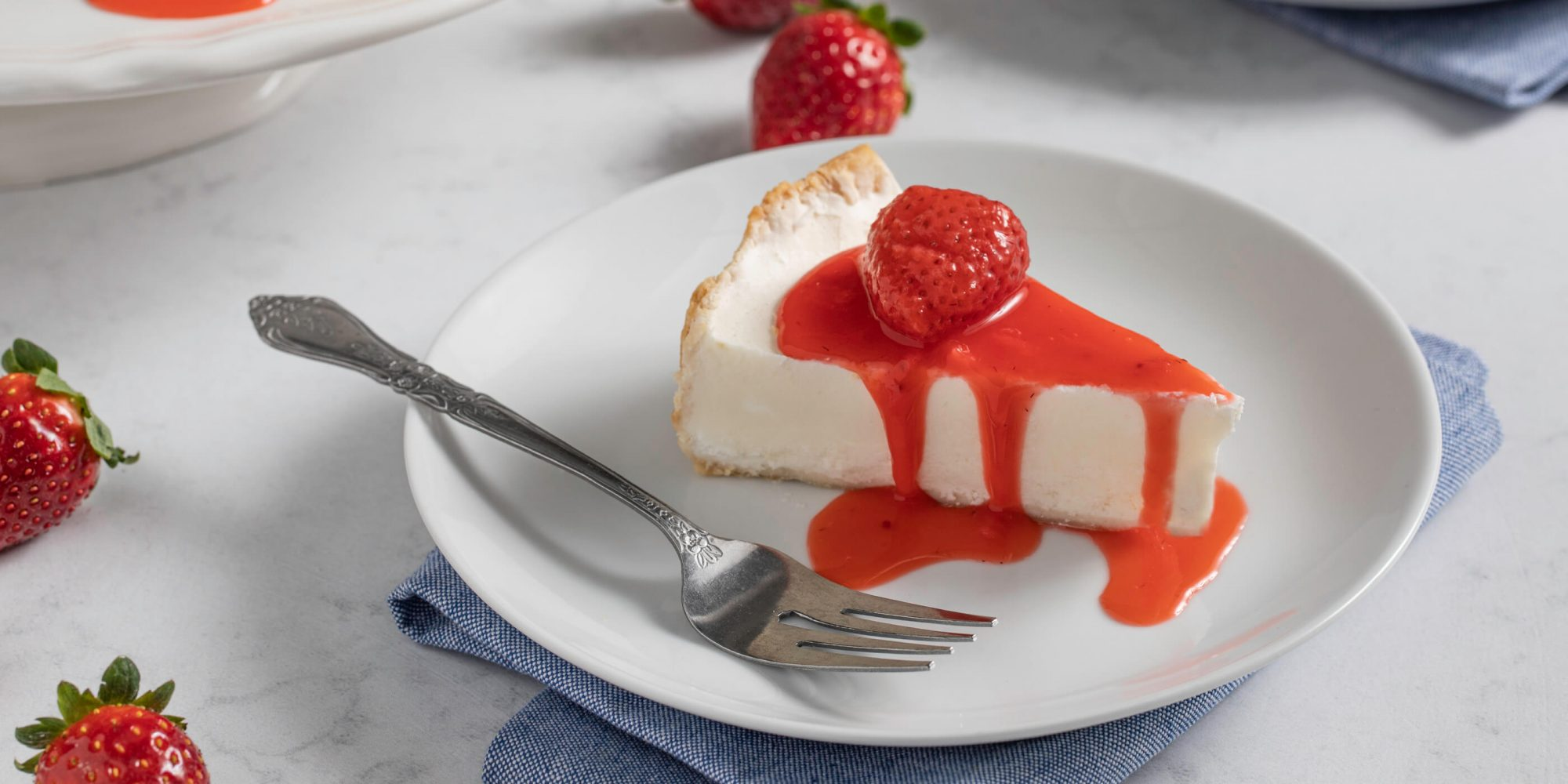 Italian Cream Pie with Strawberry Sauce