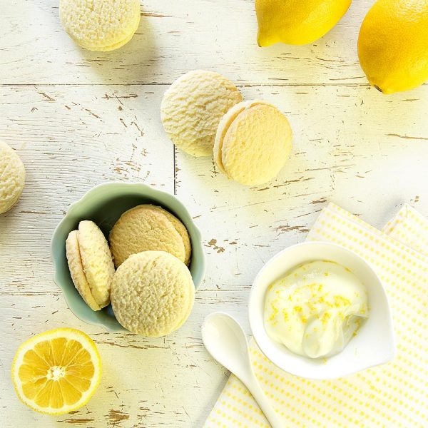 Lemon-Filled Macarons