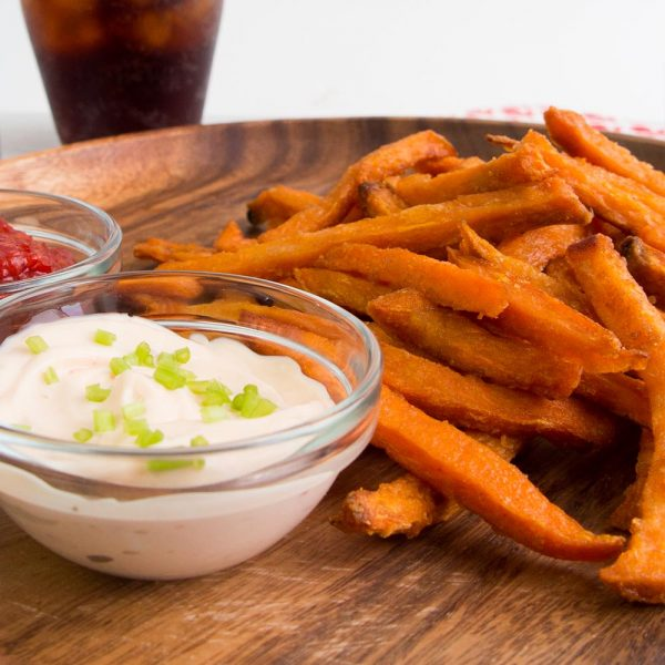 Roasted Sweet Potato Fries with Asian Dipping Sauces
