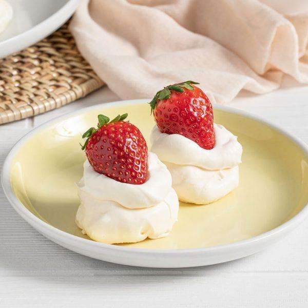 Strawberry Meringue Bites