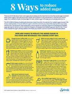 8 Ways to Reduce added Sugar