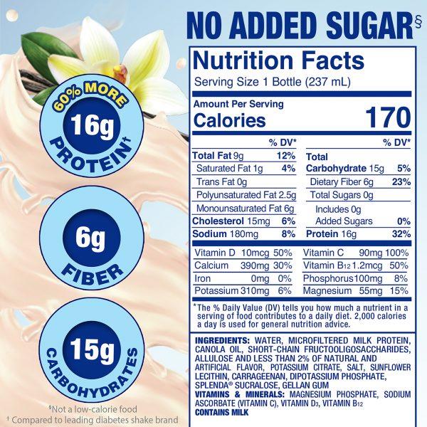 Splenda French Vanilla Diabetes Care Shakes | No Added Sugar. Helps Manage Blood Sugar.