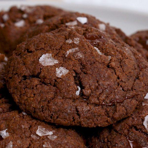 Espresso Chocolate Chunk Cookies With Sea Salt