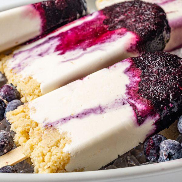 Keto Blueberry Cheesecake Pops