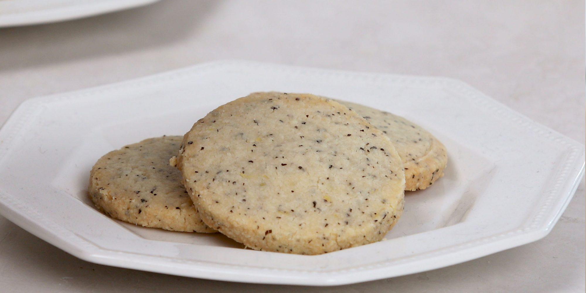 London Fog Shortbread Cookies