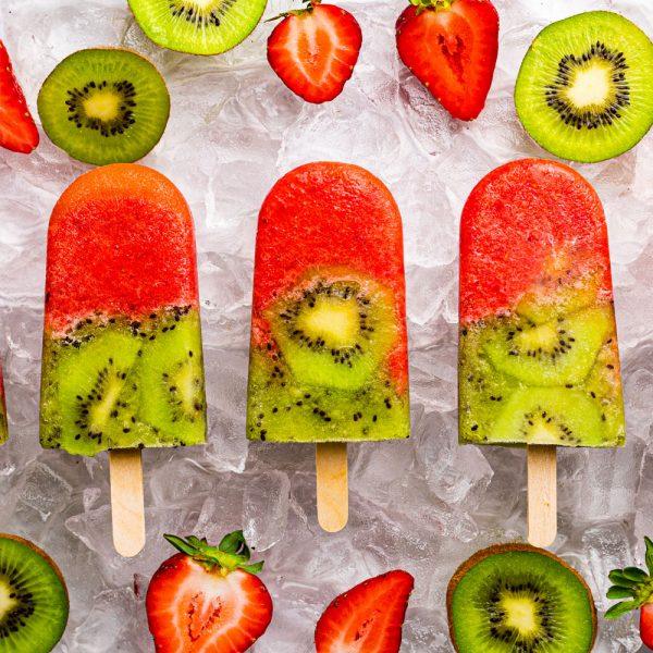 Strawberry Kiwi Ice Pops