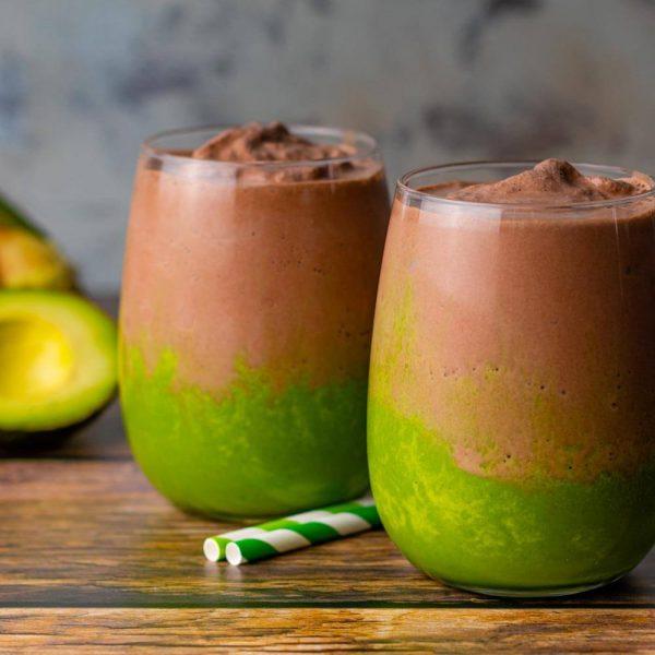 Keto Mint Chocolate Avocado Smoothie