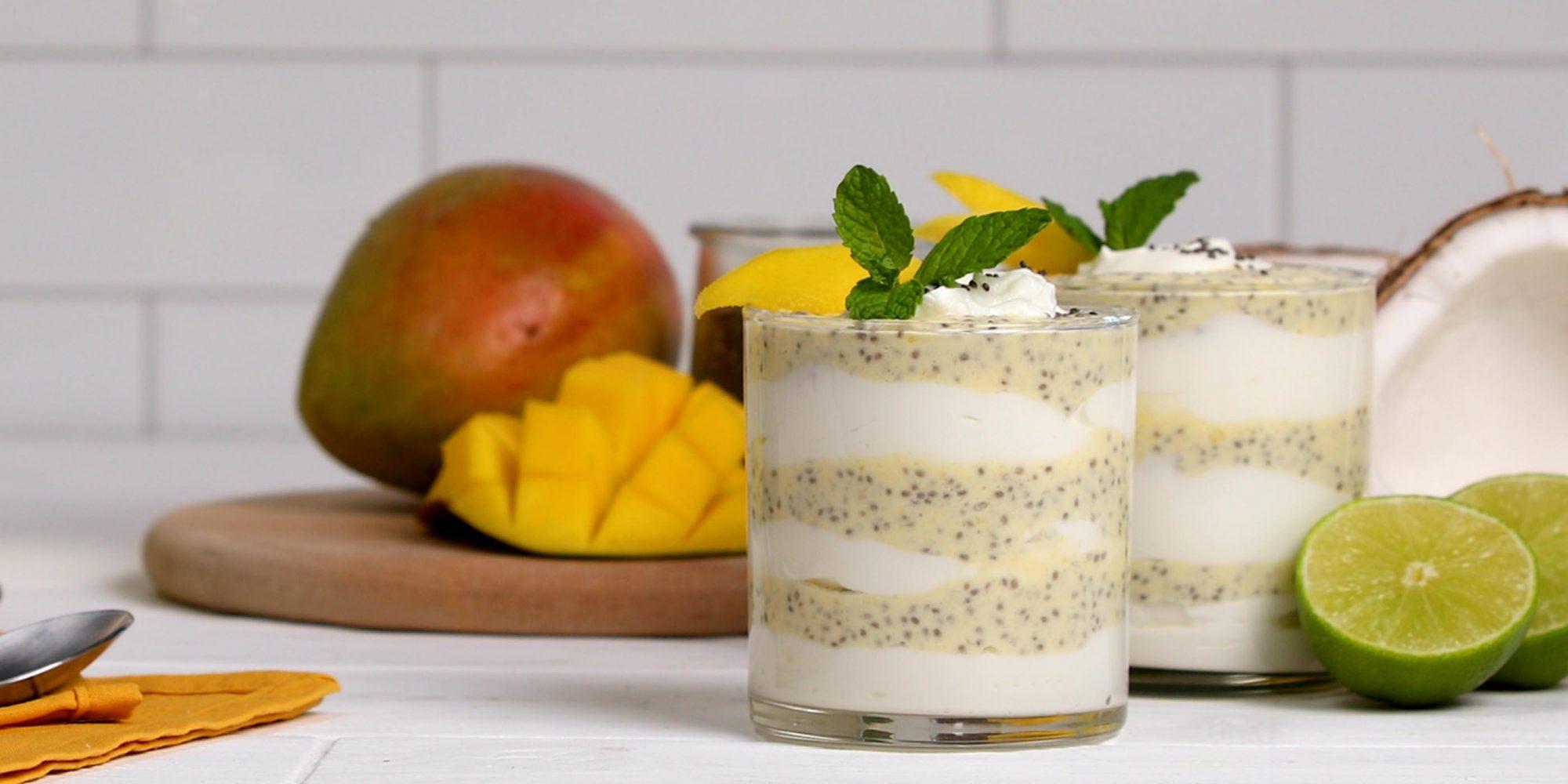 Mango, Chia and Yogurt Parfait