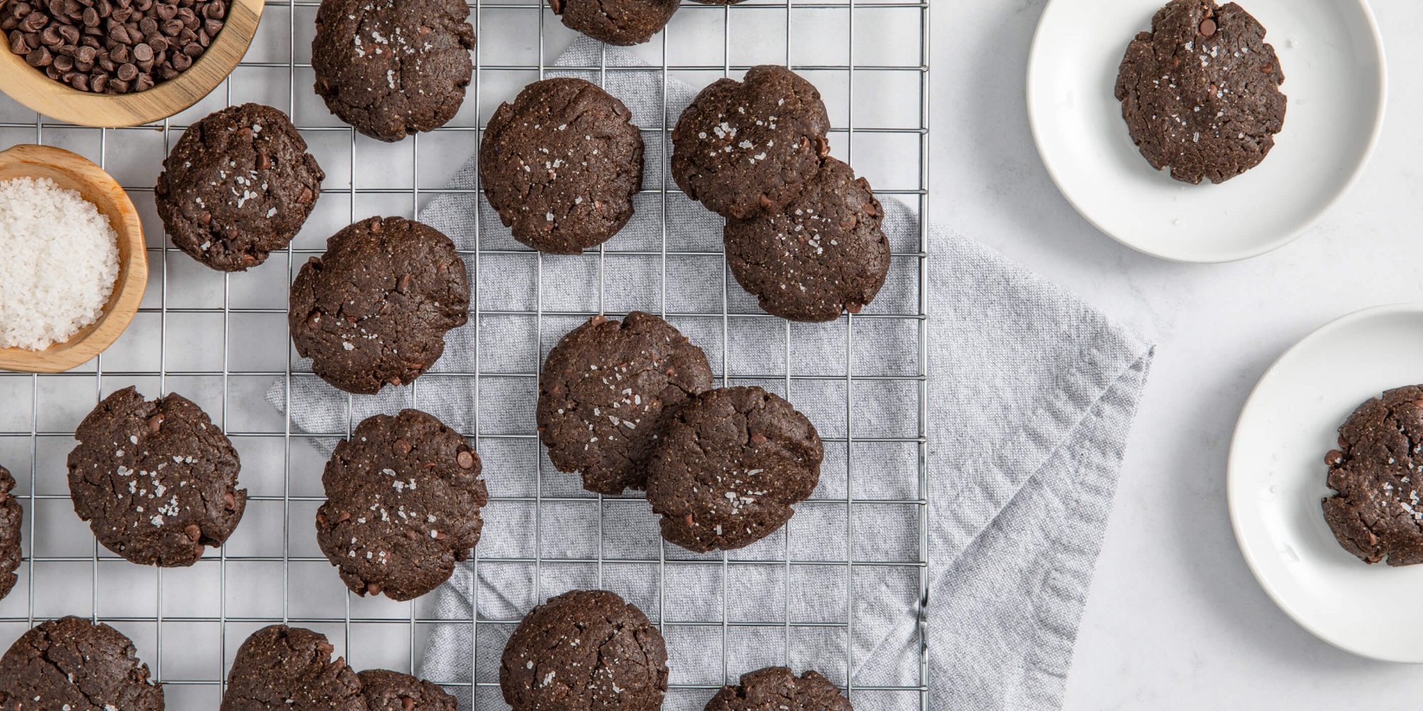 Salted Double Chocolate Cookies